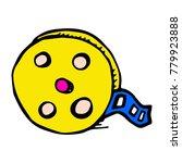 doodle film icon. cartoon | Shutterstock .eps vector #779923888