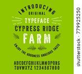 cypress ridge farm. hand made... | Shutterstock .eps vector #779925250