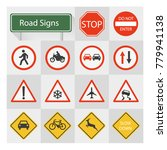 road signs collection vector | Shutterstock .eps vector #779941138