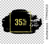 35  off sale discount banner.... | Shutterstock .eps vector #779942413