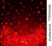 Heart Confetti Of Valentines...
