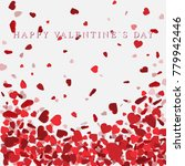 heart confetti of valentines... | Shutterstock .eps vector #779942446