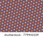 multicolor mosaic pattern... | Shutterstock . vector #779943109