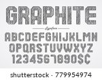hand drawing graphite pencil... | Shutterstock .eps vector #779954974