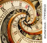 Surreal Antique Old Clock...