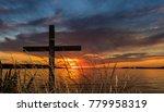 Black Cross Behind Some Dry...