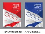 red and blue cover template... | Shutterstock .eps vector #779958568