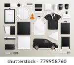 realistic vector brand identity ... | Shutterstock .eps vector #779958760