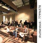 milan   april 13  people visit... | Shutterstock . vector #77996578