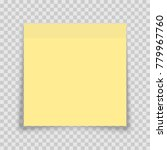 yellow sticky note with shadow... | Shutterstock .eps vector #779967760