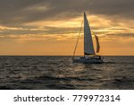sailboat on open sea during... | Shutterstock . vector #779972314