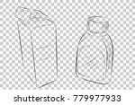 sketchy of medical bottle and... | Shutterstock .eps vector #779977933