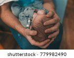 daddy and kid. father holding... | Shutterstock . vector #779982490