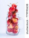 fresh cherry fruits on white... | Shutterstock . vector #779990638