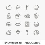 cuisine icon line set with... | Shutterstock . vector #780006898