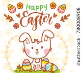 happy easter holiday... | Shutterstock .eps vector #780008908
