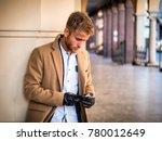 Handsome Trendy Blond Man...
