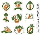 carrot labels and elements set. ... | Shutterstock .eps vector #780016690