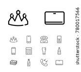 editable icons set with call ...