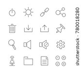 set of user interface line icon ...