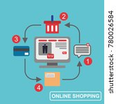 online shopping illustration... | Shutterstock .eps vector #780026584