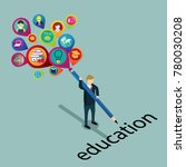 a smart man sharing education | Shutterstock .eps vector #780030208