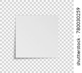 realistic square white sheet of ... | Shutterstock .eps vector #780030259