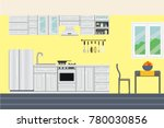 kitchen room in free space.... | Shutterstock .eps vector #780030856