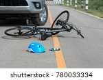 accident car crash with bicycle ... | Shutterstock . vector #780033334