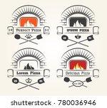firewood oven pizza logo.... | Shutterstock .eps vector #780036946