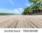 wooden board observation deck... | Shutterstock . vector #780038488