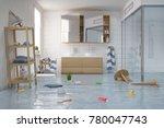3d render of a flooding... | Shutterstock . vector #780047743