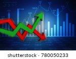 3d rendering stock market...   Shutterstock . vector #780050233