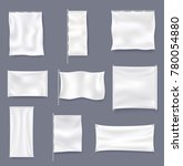 white blank textile advertising ... | Shutterstock .eps vector #780054880