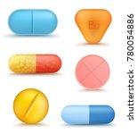 set of realistic medical drug... | Shutterstock .eps vector #780054886