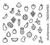 fruit   vegetables outline icon ... | Shutterstock .eps vector #780056983