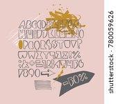 bold geometric playful font... | Shutterstock .eps vector #780059626