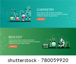 chemistry and biology vector... | Shutterstock .eps vector #780059920