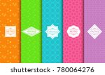 set of abstract backgrounds in... | Shutterstock .eps vector #780064276