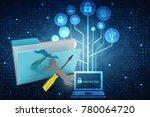 3d illustration computer... | Shutterstock . vector #780064720