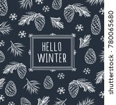 hello winter. background with... | Shutterstock .eps vector #780065680