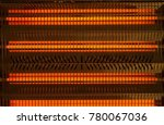 electric heater. close  up of... | Shutterstock . vector #780067036