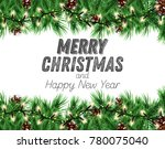 winter holiday background.... | Shutterstock . vector #780075040