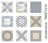 japanese pattern vector. gold... | Shutterstock .eps vector #780077170