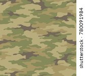 seamless camouflage pattern.... | Shutterstock .eps vector #780091984