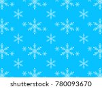 seamless snowflake pattern ... | Shutterstock .eps vector #780093670