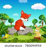 fox in the forest | Shutterstock . vector #780094954