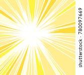 hot and glittering summer sun ... | Shutterstock .eps vector #780097669