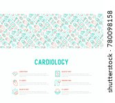 cardiology concept with thin... | Shutterstock .eps vector #780098158