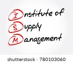 ism   institute of supply... | Shutterstock .eps vector #780103060